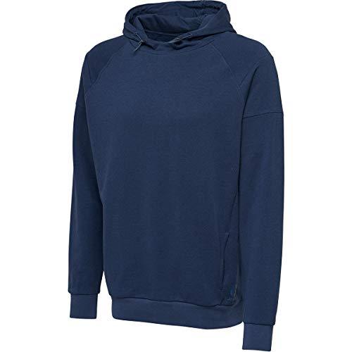 Hummel Kinder Kapuzenpullover Active Kids Cotton Hoodie 205043 Blue Melange 176