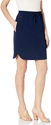 Lacoste Women s Elastic Tie Waist Skirt Navy Blue 10 product image