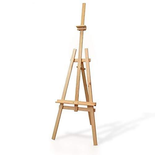Amazinggirl Staffelei Holz groß Kinder - Leinwand Ständer Staffeleien für Maler aus Buchenholz 150 cm höhenverstellbar