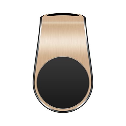 Yubenhong Schwarz Magnetischer Universal-Autotelefonhalter Lüftungsschlitz-Halterung im Auto GPS-Handy-Handyhalter für alle Smartphones (Gold)