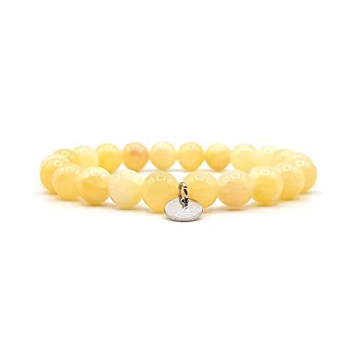 KARDINAL WEIST ágata pulsera, cuentas de piedras preciosas, joyas para mujeres y hombres, chakra - salud - riqueza - felicidad (M - ágata un solo brazalete)