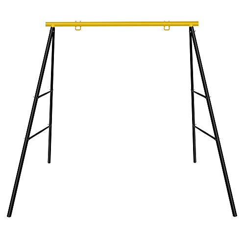SURPCOS Extra Large Heavy Duty All-Steel All Weather A-Frame Swing Frame Set Metal Swing Stand, 72' Height 87' Length, Fits for Most Swings, Fun for Kids (Swing Frame)