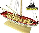 MODLE EXPO Model Shipways MS1457 18th Century Longboat Model Ship Kit 1:48 Scale Lenght 30cm Height 26cm