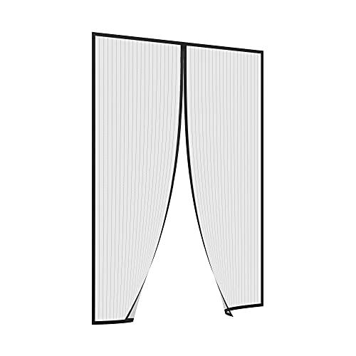 jarolift Easy Fliegengitter Tür Insektenschutztür Magnetvorhang für Türen, Ohne Bohren, Balkontür, Einfaches Durchgehen, Schwarz, 90 x 200 cm