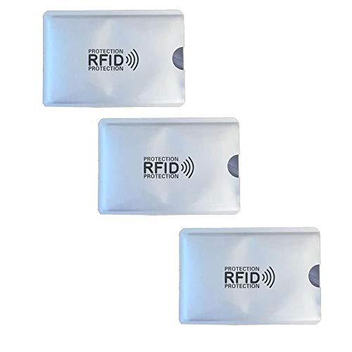 KRS KRS 3xRFI Schutzhülle Schutz RFID NFC für Kreditkarten EC Karten RFID Blocker (3 Stück)