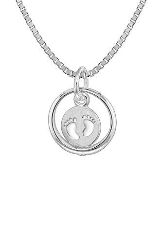 trendor Taufring mit Kinder-Halskette Silber 925 zauberhafter Taufschmuck für Mädchen, Jungen oder Mütter, tolle Geschenkidee zur Taufe, Silberschmuck, 08309