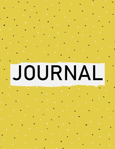 Journal: 400 pages, 8.5 x 11 inches, yellow notebook, 200 sheets/400 pages, 400 classic lined pages, college paper, perfect cover, softcover