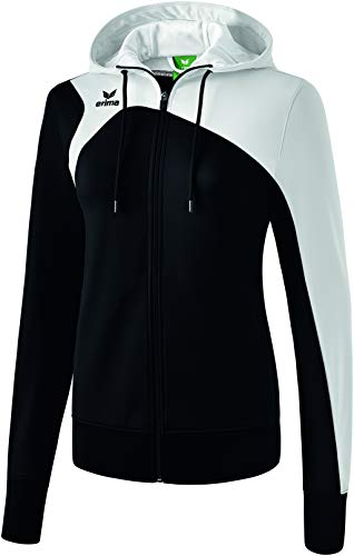 erima Damen Trainingsjacke Mit Kapuze Club 1900 2.0 Trainingsjacke mit Kapuze, schwarz/weiß, 38, 1070713