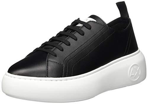 ARMANI EXCHANGE The Super Sneaker, Scarpe da Ginnastica Donna, Black, 37 EU