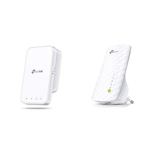 TP-Link RE300 Mesh Repeater AC1200 (Dual-WLAN AC + N, 867MBit/s 5GHz + 300MBit/s 2,4GHz) & RE200 WLAN Repeater (433Mbit/s 5GHz, 185Mbit/s 2,4GHz Dual WLAN AC+N, WLAN Verstärker) weiß