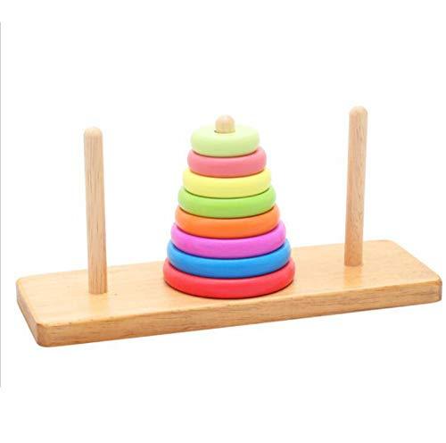 BCLGCF Stacker Toddler Toy, Jouet Éducatif en Bois Massif pour Bébé Garçon Et Fillette De 1 an Et Plus - Jouet Classique De Triage Et D'Empilage pour Le Développement