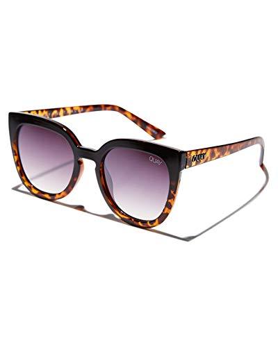 Quay Women's Noosa Sunglasses, Black Tortoise/Brown, One Size