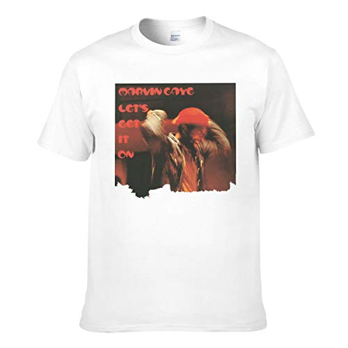 Tシャツ メンズ 半袖 Marvin Gaye Let's Get It On プリント おしゃれ ホワイト