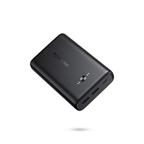 POWERADD Power Bank 15000mAh Batería Externa Móvil Carga Rápida Cargador Portátil EnergyCell con 2 Salidas USB 3A Compatible con Xiaomi, iPhone, Samsung y Más Smart Device - USB C Entrada