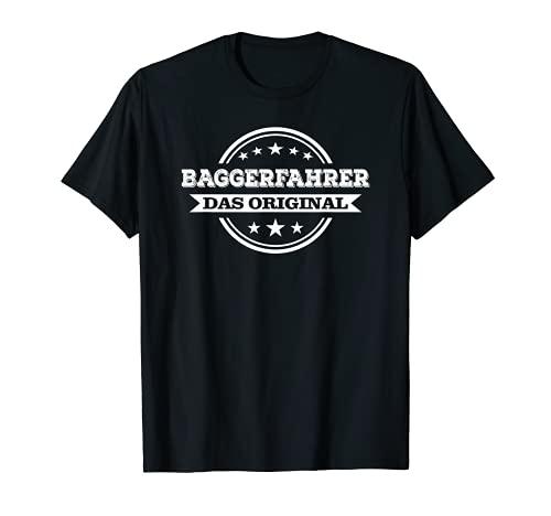 Hombre Excavadora, conductor, colegas de trabajo, obras, regalo Camiseta