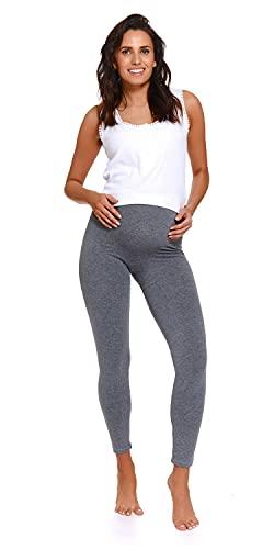 Doctor Nap - Leggings de maternidad para mujer, opacos, de algodón, fabricados en la UE gris oscuro L