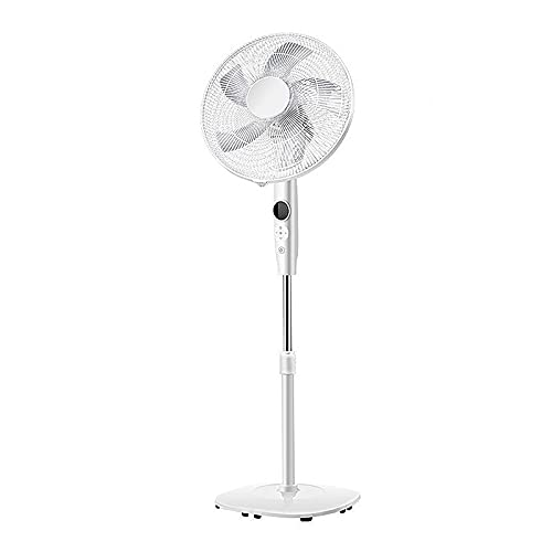 Ventilador de Pedestal, Ventilador de Pie de Alta Eficiencia Energética 12 Velocidades Del Viento 3 Modos Función de Sincronización de Suministro de Aire de Gran Angular Monitor HD Control Remoto