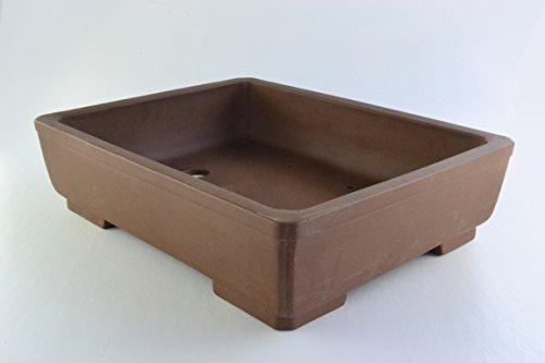 Large Unglazed 21' Rectangular Yixing Purple Clay Ceramic Bonsai Pot(PA77-21)