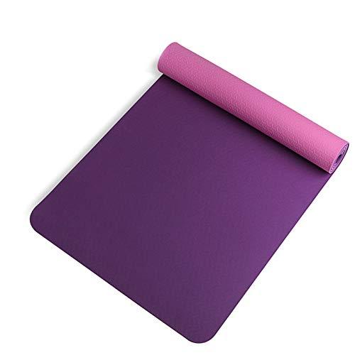 Shubiao Esterilla de yoga multiusos extra gruesa de alta densidad antidesgarro para principiantes 183 cm x 60 cm