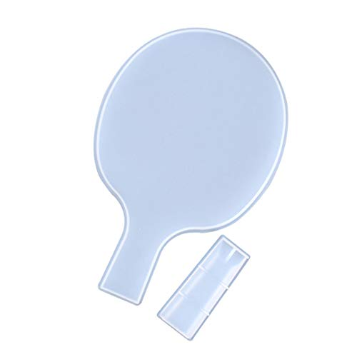coil-c Molde De Silicona Artesanal, Molde De Resina para Bandeja De Bricolaje, Herramientas para Hacer Joyas, Fabricante De Paletas De Ping Pong, Molde De Cristal Epoxi