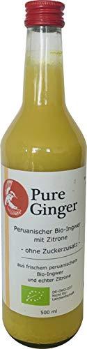 Pure Ginger – hochwertiger peruanische Bio-Ingwer ohne Zucker und künstliche Zusatzstoffe, 500 ml