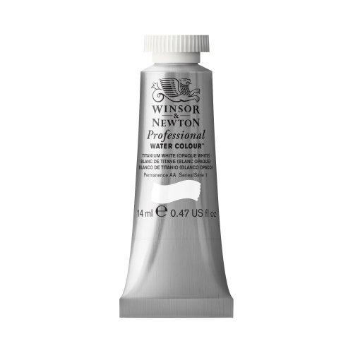 Winsor & Newton Professional Water Color Tube, 14ml, Titanium White by Winsor & Newton