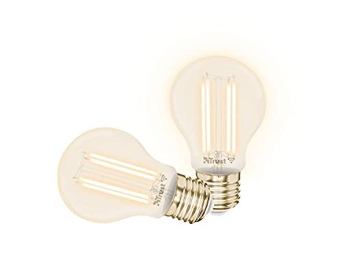 Trust Smart Home - Lampadine LED a filamento E27, compatibili con Alexa, confezione da 2