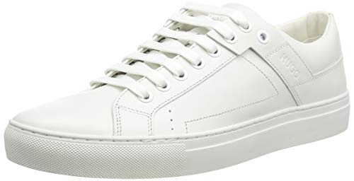 HUGO Herren Futurism_Tenn_lt Low-Top, Weiß (White 100), 44 EU