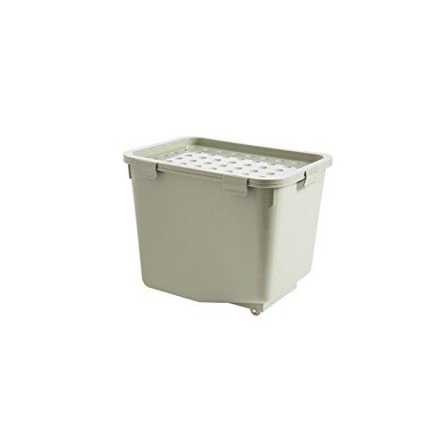 Shengluu Caja de almacenamiento de ropa de plástico grueso para juguetes, caja de almacenamiento con tapa (color verde)