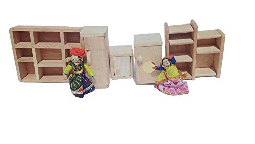 LakshyaIndiaModernFurnitureforDollHousewithFridgeWashingMachineShowCaseWardrobeandCupBoard