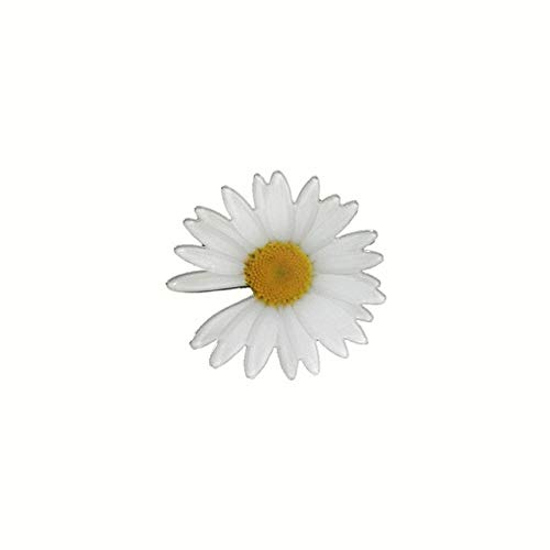 Beautiful Brooch Vintage Cartoon Daisy Lapel Pins for Backpacks Cute Acrylic Badges Gifts Shirt Hat Accessories-Qf14