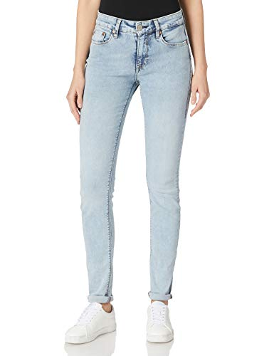 Herrlicher Damen Super G Slim Reused Denim Jeans, Blue Ashes 633, W27/L30