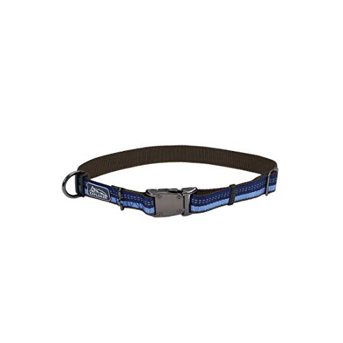 Coastal - K-9 Explorer - Reflective Adjustable Dog Collar, Sapphire, 1' x 18'-26'