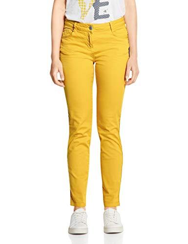 Cecil Damen 372481 Vicky Tight Fit Hose, Ceylon Yellow, W/L30(Herstellergröße:33)