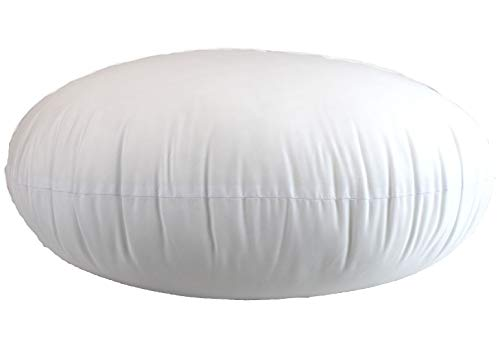 MoonRest Round Pillow Insert Hypoallergenic Polyester Form Stuffer-%100 Cotton Blend Covering for Sofa Sham, Decorative Pillow, Cushion and Bed - 32 X 32 Inch