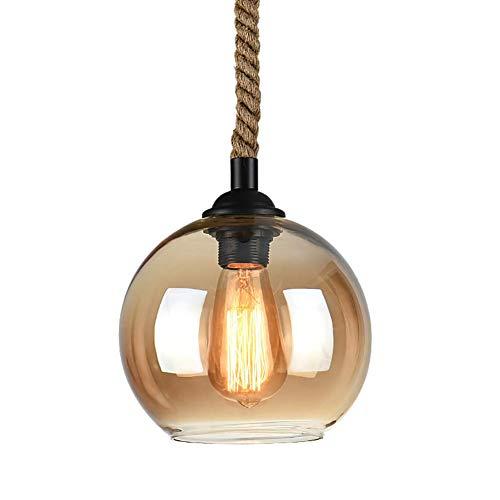 Casual Lámpara de Cristal de la Personalidad Creativa Restaurante Bar lámpara de Mesa Tienda de Ropa Retro Loft Cuerda del cáñamo Industrial Individual de Viento pequeño Araña HAODAMAI