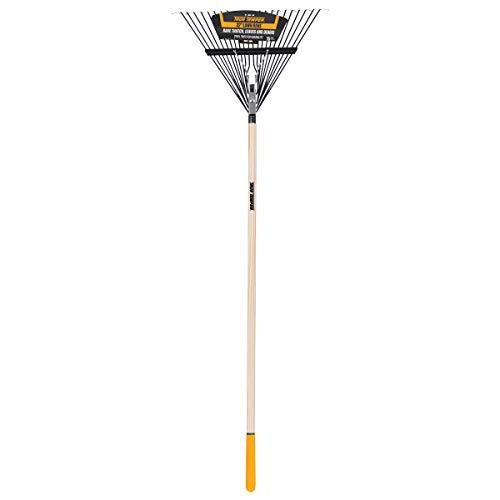 True Temper 2604512 Steel 22-Tine Leaf Rake with Hardwood Handle, 22 Inch