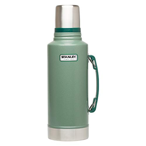Stanley 10-01289-035 Classic 2-Quart Vacuum Bottle, Hammertone Green