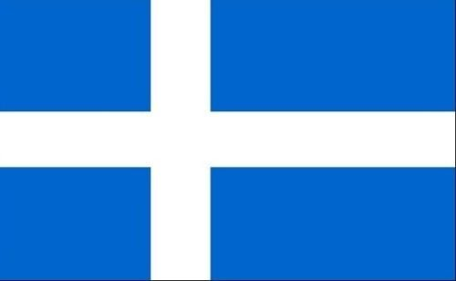 45,7x 30,5cm (45x 30cm) Shetland Shettys Inseln Inseln Ärmeln Boot Höflichkeit 100% Polyester Material Hand Waving Flag Banner Ideal für Pub Club Schule Festival Business Party Dekoration