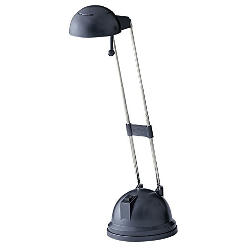 Eglo 9236 Lampe de bureau, métal, G4, Noir