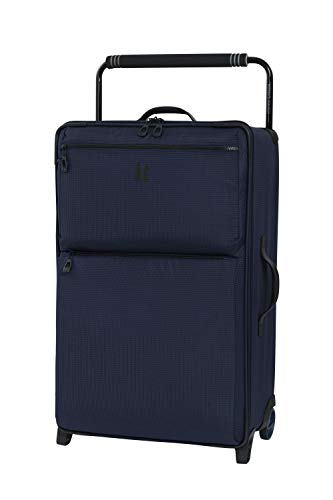 it luggage World's Lightest Los Angeles Softside Upright, Navy/Blue, Checked-Medium 30-Inch