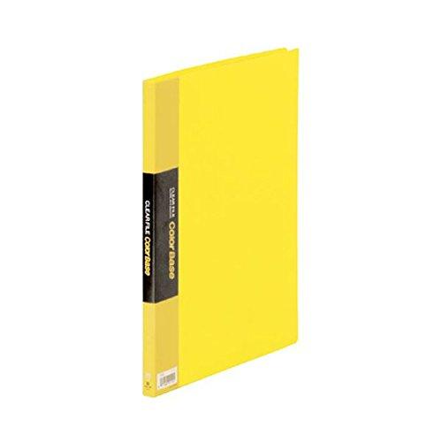 (まとめ) キングジム クリアファイル カラーベース A4タテ 20ポケット 背幅14mm 黄 132C 1冊 【×5セット】 ds-1581444