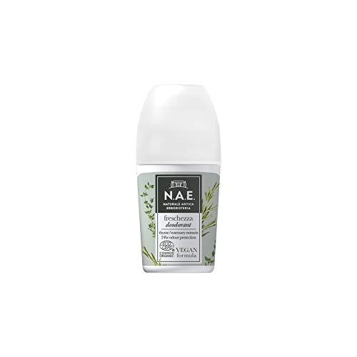 N.A.E. Desodorante Frescura, Extractos Orgánicos de Hoja de Tomillo y Romero, Fórmula Vegana, 50 m