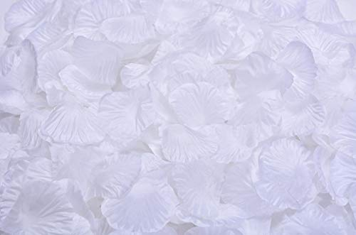 Helenhouse 1000 PCS Artificial Silk Flower White Rose Petals for Wedding Party Bridal Decoration