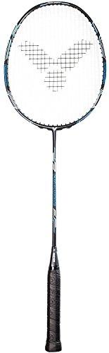 VICTOR Badmintonschläger V-4400 Magan mit Wettkampfbesaitung Ashaway - Ideal für den preisbewussten Badmintonspieler, Blau