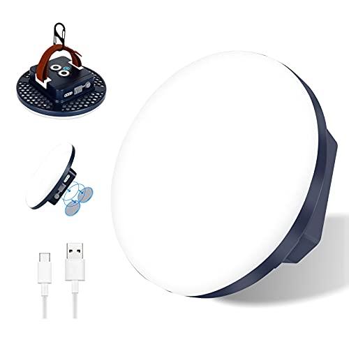 22000mAh LED Handscheinwerfer, 2000LM Taschenlampe, Stufenlos Dimmbar Lampe, IP65 Wasserdichte 2 Lichtmodi campingleuchte Campinglaterne Suchscheinwerfer mit USB Ausgangsstrombank