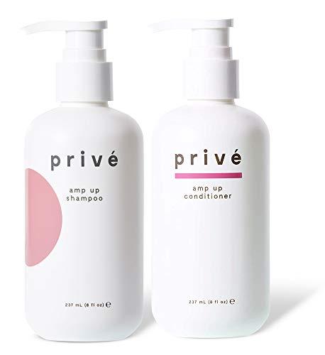 Privé Amp Up Shampoo and Conditioner Kit – Clarifying Shampoo & Volumizing Conditioner –...