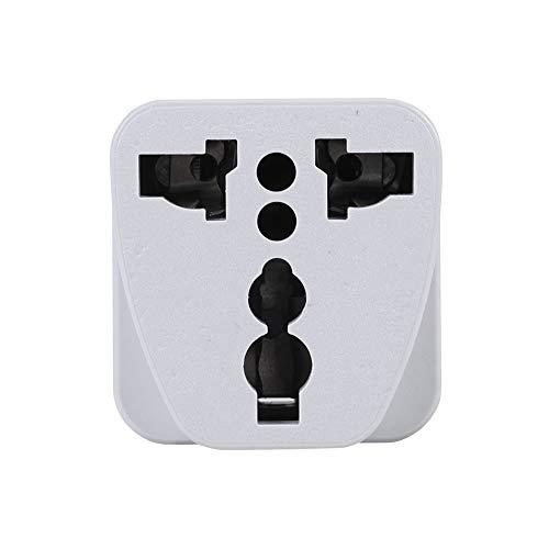 Guoshiy Enchufe de conversión, Material ignífugo ABS Adaptador de Viaje Universal, Seguro para Alemania, Países Bajos, Francia, Dinamarca