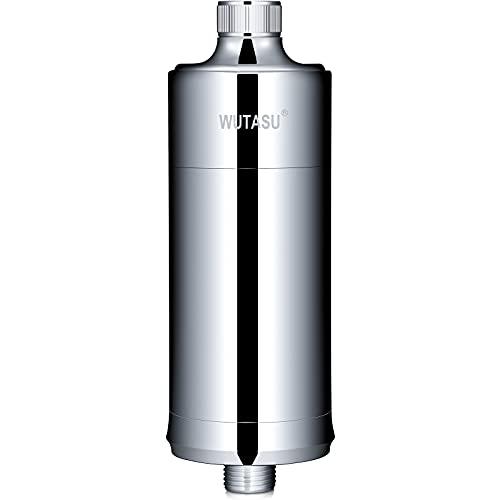 Duschfilter Shower Filter, WUTASU Universal Wasserfilter Dusche zur Entfernung von Chlor und Schwermetall Fluorid, Kalkfilter Dusche Lassen Haar und Haut Gesünderes, Wasser Weichmache