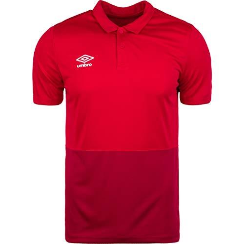 UMBRO Herren Poly Poloshirt, rot/dunkelrot, L